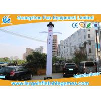 Quality White Advertising Sky Inflatable Air Dancers Snowman With Bottom Blower for sale