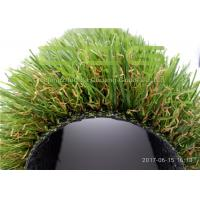 China 35mm Height Smooth Soft Plastic Grass Carpet / Outdoor Artificial Grass Landscaping on sale
