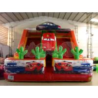 Quality Car Double Lane Inflatable Slide for sale