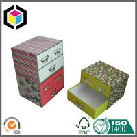Buy Color Printing Matte Laminate Drawer Style Gift Paper Box for Cosmetics at wholesale prices