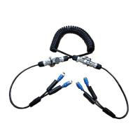 Quality IP67 Trailer Spring Coiled Extension Cord Electrical With 7 Pin Power Signal Plug for sale