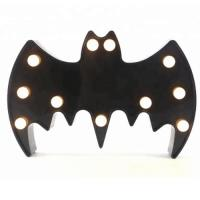Quality Bat led marquee light kids night light halloween decoration for sale