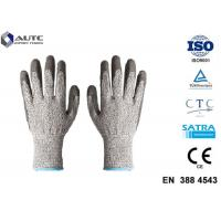 Quality Elastic Seamless Knit Industrial Safety Hand Gloves 3 Gauge HPPE Liner PU Coated for sale