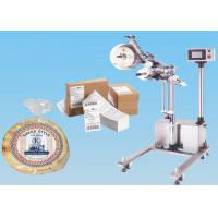 Stainless Steel Automatic Sticker Labeling Machine On Line Top Labeler With Stand