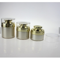 Buy cheap Free sample 15g 30g 50g acrylic white and silver cosmetic cream airless jar from wholesalers