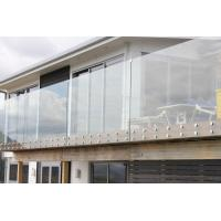 Quality High Grade outdoor decking framless tempered glass railings for sale