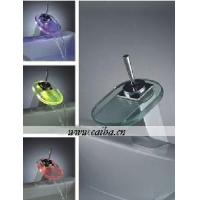 Quality Single Handle LED Waterfall Basin Faucet for sale