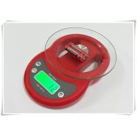 Buy Tempered Glass Home Electronic Scale Red Color For Kitchen Weighing Food at wholesale prices