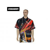 Quality Free Design All Over Sublimation Printed Colorful Golf T-Shirt for sale