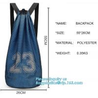 China promotional daily recycled customized wholesale mesh drawstring backpack,drawstring backpack kids mesh backpack manufact for sale