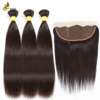 Quality 8a 1b Color Malaysian Straight Virgin Hair With 13 * 4 Frontal Lace Closure for sale