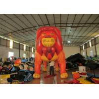 Quality Commercial Cartoon Inflatable Advertising Signs digital painting Giant Inflatable Lion for exhibition for sale