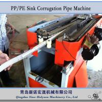 Quality Sinohs CE ISO PP PE Sink Plastic Corrugated Pipe Machine for sale