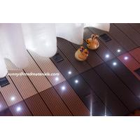 Quality Led light wpc tiles CE certificate bright your yard for sale