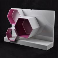 Quality Acrylic Makeup Display Stand With Hexagon Shape for sale