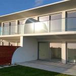 Quality Customize Aluminum U Base Shoe Curve Tempered Glass Balcony Railing for sale