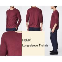 Quality Eco Friendly Round Neck Hemp Cotton Clothing Long Sleeve Blank Design for sale
