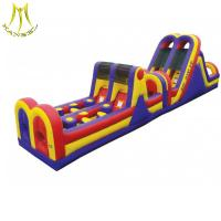 Quality Hansel 2018  inflatable obstacle course bouncy castle adult inflatable obstacle course for sale