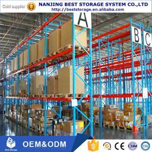 China Blue Orange color Industrial Galvanised Pallet Racking Shelves Material Handling Racks on sale
