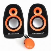Quality USB 2.0 Mini Speakers for Laptop, with 3W x 2 Output Power for sale
