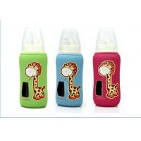 China neoprene milk baby glass bottle cooler bag, a small window for checking milk volume on sale