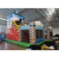 Quality Colorful spaceship inflatable fun city / Digital painting inflatable airship amusement park for sale for sale