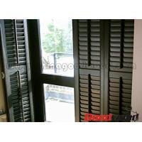 Quality Painted Basswood Decorative Adjustable Louver Plantation Window Shutter for sale
