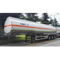 Quality 3pcs Axle Second Hand Semi Trailers Round Shape With 40m3 Tanker Capacity for sale