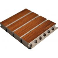 Quality Tongue Wooden Grooved Acoustic Panel , 15mm MDF Sound Wall Panels for sale