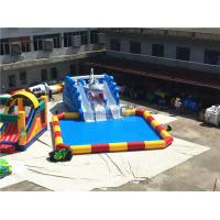 Outdoor Big Amazing Portable Blast Sharp Slide Inflatable Floating Water Park for sale