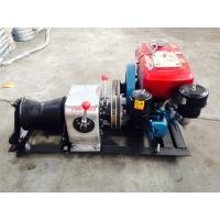 China Power Construction 1T Diesel Cable Winch With Water Cooled Diesel Engine on sale
