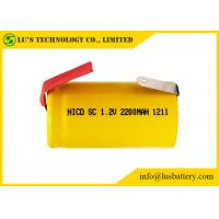 Quality Multi Function Sub C 1.2 Volt Battery / Sub C 2200mah Nicd Rechargeable Battery for sale