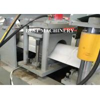 Buy Ridge Cap Roof Tile Roll Forming Machine / Metal Roof Profile Camber at wholesale prices