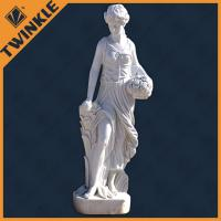 Buy cheap White Marble Woman Natural Stone Sculptures with Freestanding from wholesalers