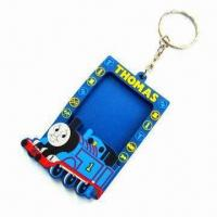 Quality Silicone Rubber Photo Frame Keychain/Key Ring for Promotional, Customized Designs, Sizes, Colors for sale