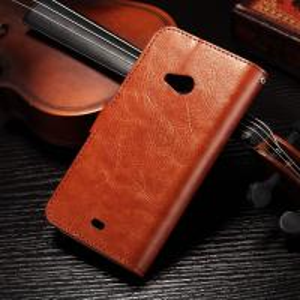 Quality PU Handmade Nokia Lumia Leather Case Flip Cover For Nokia 535 / 540 Anti - Slip for sale