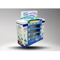 Buy Six pockets with bright yellow cardboard retail pallet displays for rain wear at wholesale prices