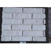 China White Faux Exterior Brick Decoration Thickness 10-15mm Solid Surface on sale