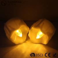 Quality Yellow Flickering Timing Flameless LED Tea Light Candles with Timer for sale
