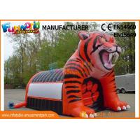 China Giant Inflatable Tiger Mascot Inflatable Football Helmet Tunnel For Events on sale