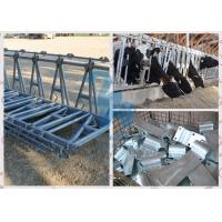 Buy Durable Locking Feed Barriers , 10FT Length Cows' Feed Head Lock Fence for at wholesale prices