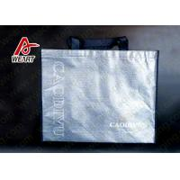 Quality Silver Foil Design Custom Printed Non Woven Carry Bags For Shopping for sale