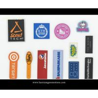 Quality Custom plastic rubber patch/silicone label with color logol/pvc label for garment for sale