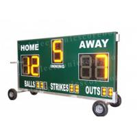 Quality 20'' 500mm Height Portable Baseball Scoreboard With Wheel Moving Stand for sale