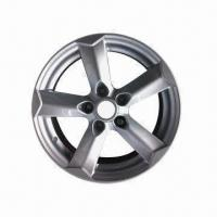 Quality Alloy car wheel, replica design with silver polish, available in 16x6.5 inches size for sale