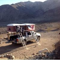 Quality Double Big Foot Automatic Roof Tent , Jeep Hard Top Tent Streamlined Design for sale