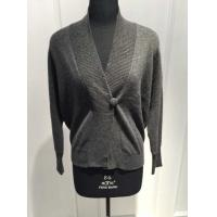 Quality Perfect Handfeel Black Cashmere Wrap Sweater With Computer Plain Knitting Crafts for sale
