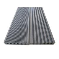Quality UV - Resistant Hollow Decking Boards  , Anti Slip Brown / Grey Composite Decking for sale