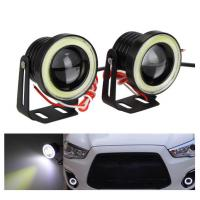 Quality Waterproof LED Auto Headlight Lighting Fog Light With Lens Halo Angel Eyes Rings COB 30W 12V for sale