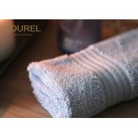 Quality 100% Cotton Popular White Hotel Face Towel With Platinum Dobby 32 x 32 cm for sale
